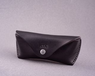Handmade Leather Sunglasses Case For Ray-Ban, Without Lining, Size M