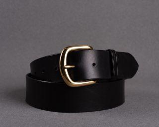 Mens Belt, Leather Mens Belt, Handmade Leather Belt, Black Mens Belt, Size M