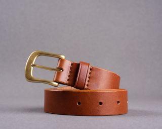 Mens Belt, Leather Mens Belt, Handmade Leather Belt, Trousers Belt, Cognac Mens Belt, Size M